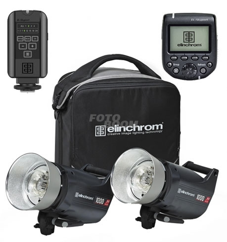 KIT 2 Flashes ELC PRO-HD1000 TO GO + Transmitter Pro Nikon