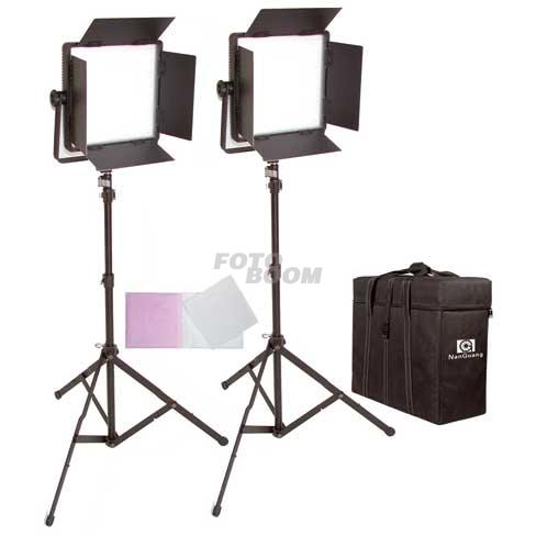 Kit 2 Paneles CN600CSA LED Bicolor + Maleta