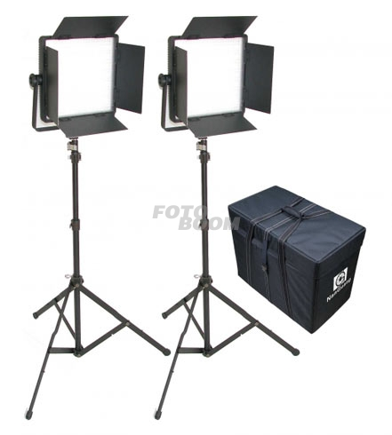 Kit 2 Paneles CN1200CSA LED Bicolor + Maleta