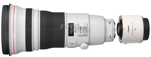400mm f/2.8L IS USM II EF + 2X Multiplicador EF-III
