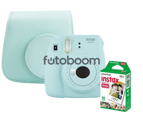 Instax Mini 9 Azul + Funda + Papel 10PK