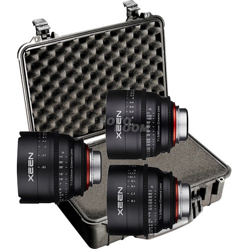 KIT XEEN 24mm/50mm/85mm Canon + Peli 1500 Foam