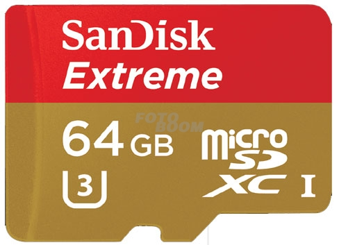 Micro SDXC EXTREME 64Gb V30 90Mb/s