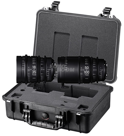 Kit 2 lentes 18-35mm T/2 + 50-100mm T/2 PL + Maleta PMC001