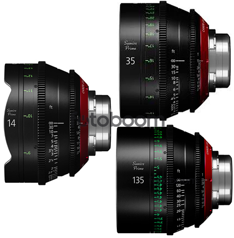 KIT 14mm/35mm/135mm (EF)